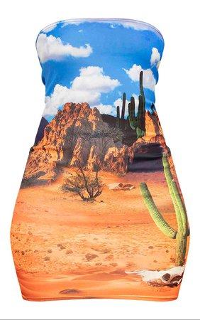 Blue Desert Bandeau Bodycon MINI Dress | Dresses | PrettyLittleThing USA