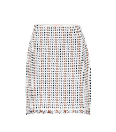 Hollis linen and cotton-blend skirt