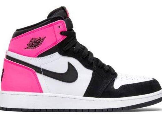pink and black Jordan