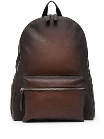 Orciani pebbled leather backpack brown P00711 - Farfetch