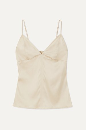Ivory Stretch-silk satin camisole | Bottega Veneta | NET-A-PORTER