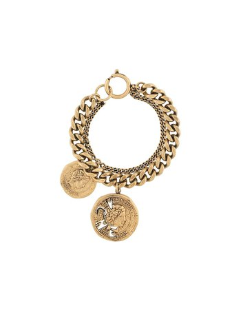 Acne Studios vintage coin chunky chain bracelet with Express Delivery - Farfetch