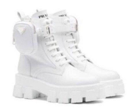 prada white boots