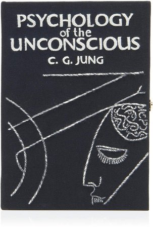 Olympia Le-Tan Psychology Of The Unconscious Embroidered Book Clutch
