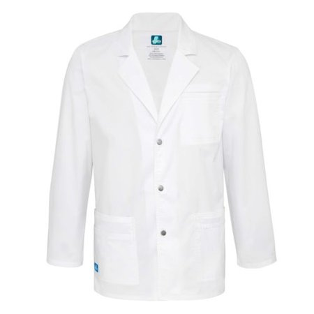 """Adar Men Doctor Uniform 31"""" White Snap Front Medical Nursing Scrub Lab Coat"" 