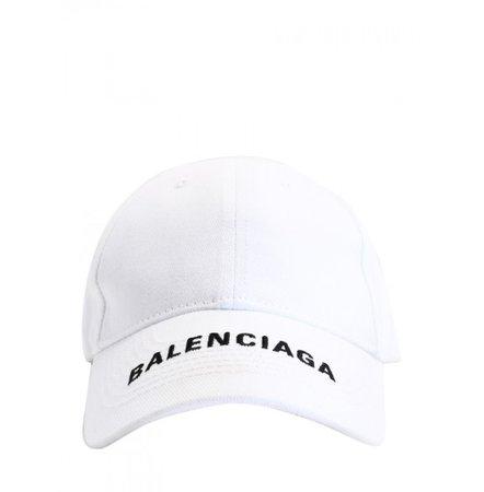 BALENCIAGA Hat Women   Baseball Hat White White   BALENCIAGA 531588 410B79060 - Leam Luxury Shopping Online