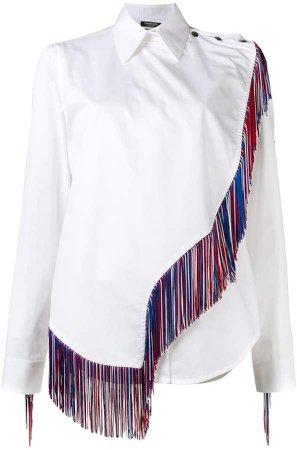 fringe detailed longsleeved shirt