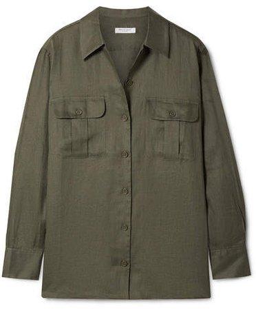 Videlle Linen Shirt - Army green