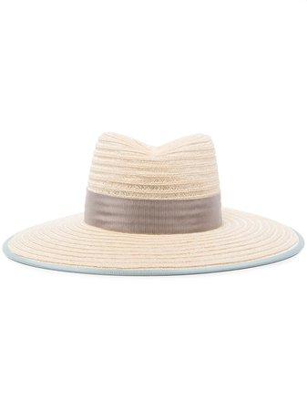 D'ESTRËE Cindy grosgrain-trimmed Straw Hat - Farfetch