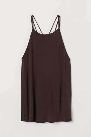 Jersey Camisole Top - Brown