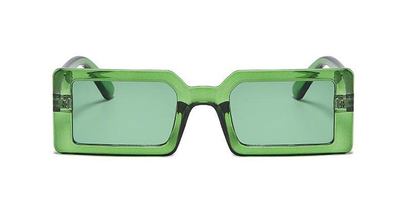 Women s Sunglasses Green Square Vintage female Rectangle | Etsy