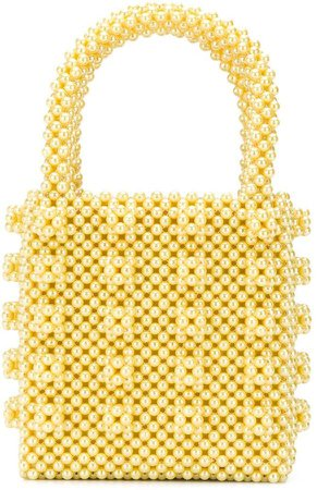 embellished beaded tote