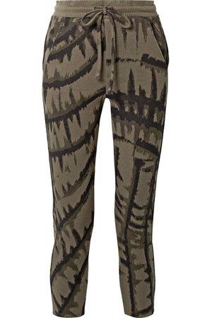 TWENTY Montréal   Hyper Reality cropped tie-dyed cotton-blend jacquard track pants   NET-A-PORTER.COM