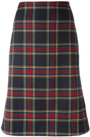 Pre-Owned tartan skirt
