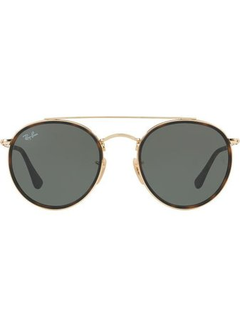 Ray-Ban Round Double Bridge Sunglasses - Farfetch