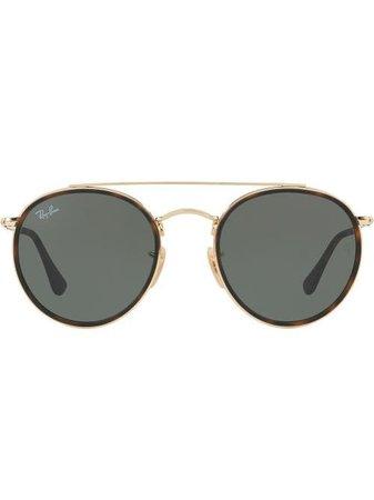 Ray-Ban Round Double Bridge Sunglasses - Farfetch