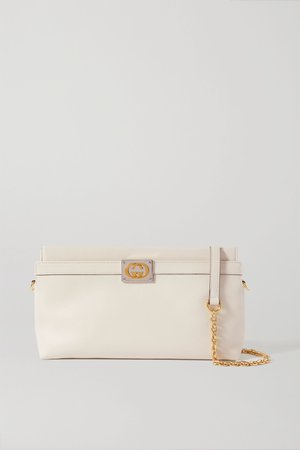 White + NET SUSTAIN Matisse leather shoulder bag | Gucci | NET-A-PORTER