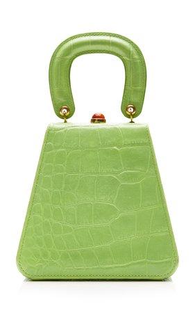 Kenny Croc-Effect Leather Top Handle Bag by Staud | Moda Operandi