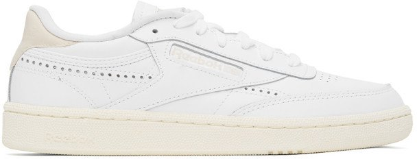 Reebok Classics White and Off-White Club C 85 Vintage Sneakers