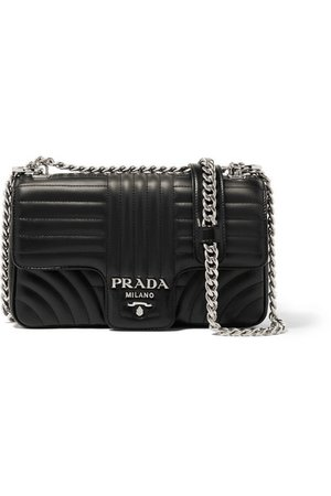 Prada | Quilted leather shoulder bag | NET-A-PORTER.COM