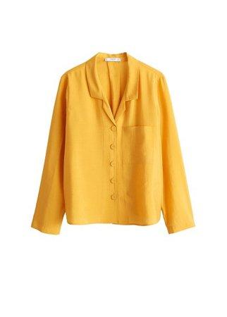 MANGO Flowy modal blouse