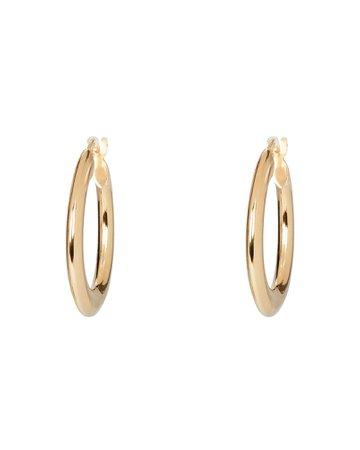 Argento Vivo Tube Hoop Earrings | INTERMIX®