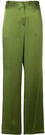 high rise wide-leg trousers