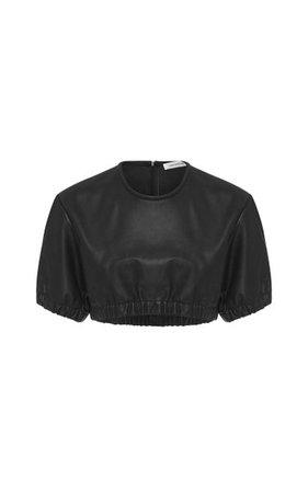 Rolled Up Leather Tee By Christopher Esber | Moda Operandi