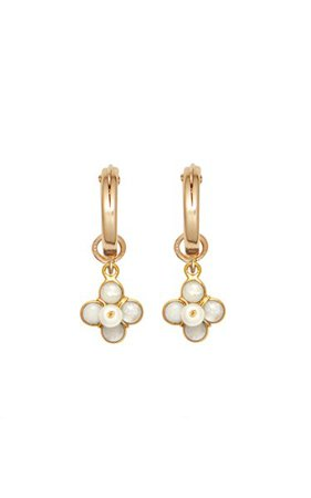Ginny 24k Gold-Plated And Freshwater Pearl Earrings By Brinker & Eliza | Moda Operandi