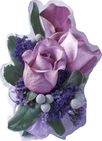 purple corsage