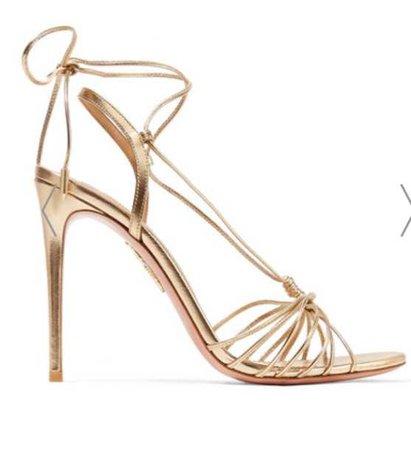 Aquazurra Gold Sandals