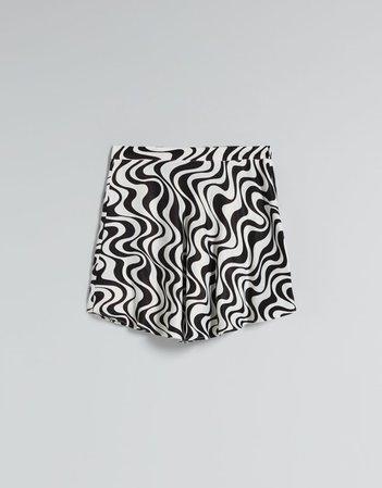 Satin print mini skirt - Skirts - Woman | Bershka