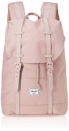Amazon.com | Herschel Supply Co. Retreat Mid-Volume Backpack, Ash Rose Rubber, One Size | Casual Daypacks