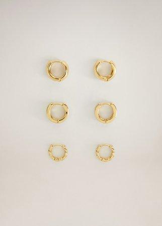 Mixed earring set - Women | Mango USA gold