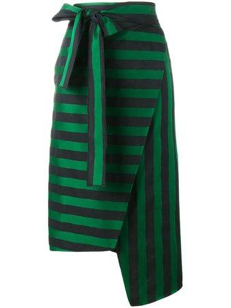 Rochas Stripe Asymmetric Skirt - Farfetch