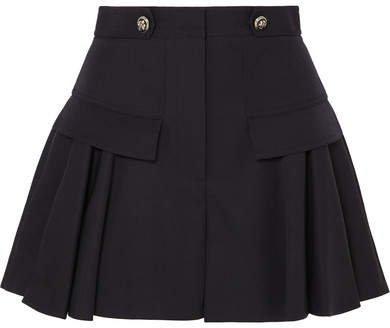 Grain De Poudre Wool Shorts - Navy