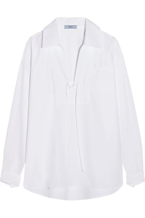 Prada | Oversized cotton-poplin blouse | NET-A-PORTER.COM