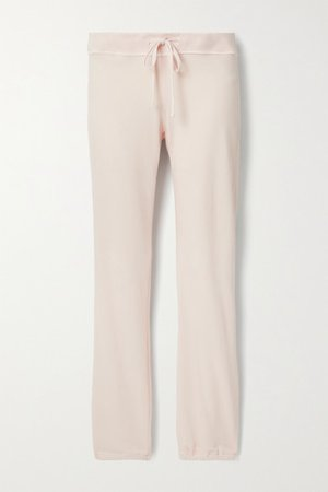 Genie Supima Cotton-terry Track Pants - Pastel pink