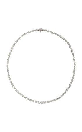 Platinum And Diamond Necklace by Gioia | Moda Operandi
