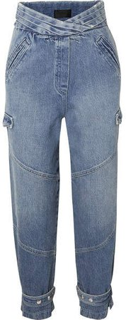 Dallas Cropped High-rise Tapered Jeans - Mid denim