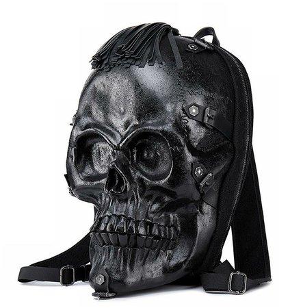 3D Skull Backpack PU Backpack   RebelsMarket