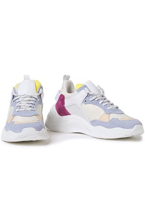 Multicolor Curverunner color-block leather, canvas and suede sneakers | Sale up to 70% off | THE OUTNET | IRO | THE OUTNET