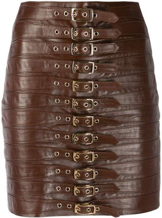 Manokhi Multi-Buckle Mini Skirt