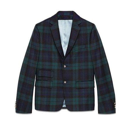 Gucci Cambridge Wool Tartan Jacket