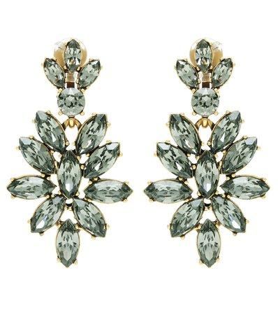 Crystal-Embellished Clip-On Earrings | Oscar de la Renta - mytheresa