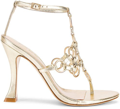 Athena Heel in Gold | FWRD