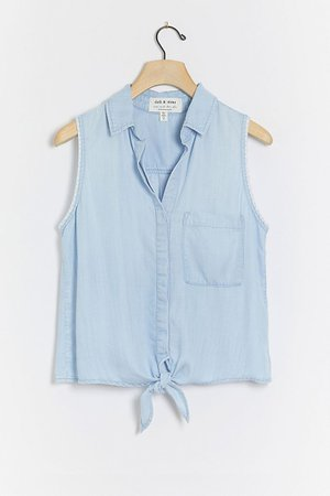 Cloth & Stone Evra Tie-Front Blouse | Anthropologie
