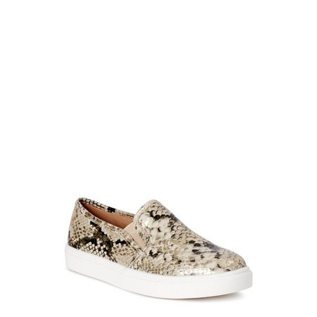 Time and Tru - Time and Tru Snake Twin Gore Slip On (Women's) (Wide Width Available) - Walmart.com - Walmart.com cream