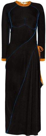 Asymmetric Tie-Fastening Dress
