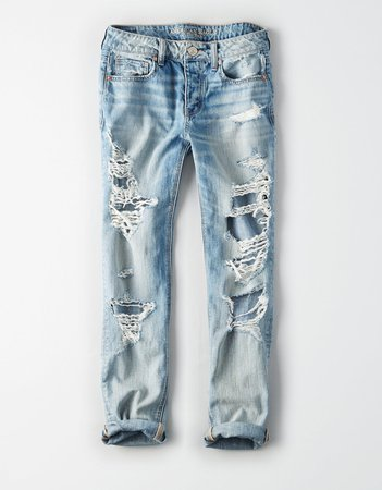 Tomgirl Jean, Classic Vintage Destroy | American Eagle Outfitters